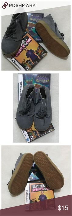 """GAP suede chukka boys size 10 NWOB. Color is called New Shaddow, grayish blue. Heel to toe 7.5"""". GAP Shoes Boots"""