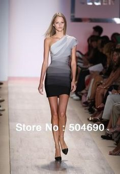 Evening Dress 2013 New Arrival Pink Red Gray Blue Bandage Dress Cocktail  Dress Sexy fashion One. Dresses ... ce78a6582635