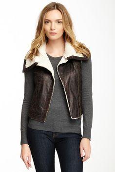 Faux Leather Zip Vest by Mystree on @HauteLook