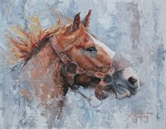 """""""The Red Bronc"""" by Abigail Gutting in the FASO Daily Art Show"""