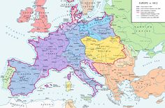 Europe in 1812. The political situation before Napoleon's Russian Campaign.