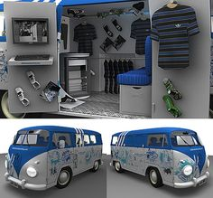 pop up store mobile adidas - idée caravane