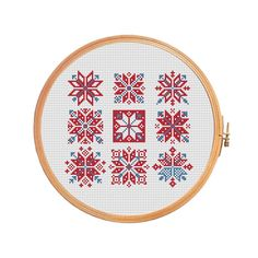 Snowflakes and arrows modern cross stitch by PatternsCrossStitch