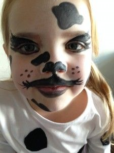 Dalmatian Face Painting  Step by step guide.