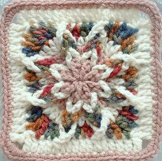 This is crocheted from the outside in!