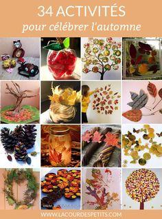 De belles idées pour occuper les enfants avec des bricolages d'automne.