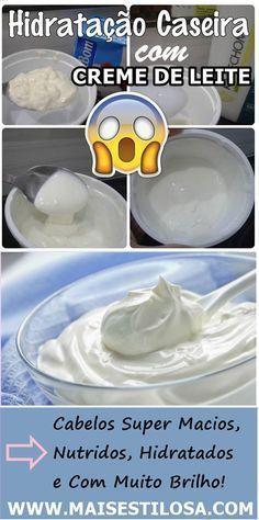 Como fazer hidratação caseira com creme de leite. Funciona de verdade. Seu cabelo vai derreter de tão macio.