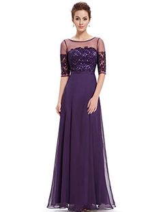 Ever Pretty Womens Floor Length Lace Chiffon Evening Party Dress 8 US Purple Ever-Pretty http://smile.amazon.com/dp/B0122N62U4/ref=cm_sw_r_pi_dp_SaFVwb1C8V829