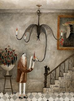 "kosukeajiro: "" Strange chandelier """