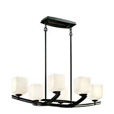 Kichler Lighting 42261AVI 6 Light Brinbourne Chandelier, Anvil Iron