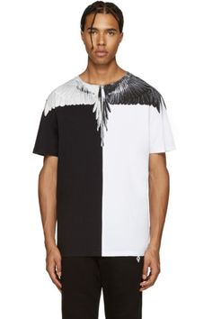 Marcelo Burlon County of Milan - Black & White Lagunas Bravas T-Shirt