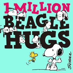 """""""Today, we crossed 1 million friends on Instagram! Thank you for being part of our Peanuts family.  #BeagleHugs to all of you! """""""