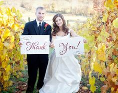 Wedding Thank You Signs Great Photo Prop by camispaperie on Etsy, $30.00