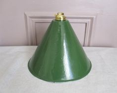 Vintage french enamel ceiling light Lamp shade by 5LittleCups