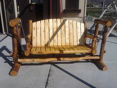 Log Porch Glider