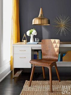 Metallic paint adds a special touch to any furniture piece.