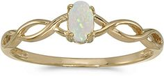 10k Yellow Gold Oval Opal Ring -- You can get more details by clicking on the image. (This is an affiliate link) #PromiseRings
