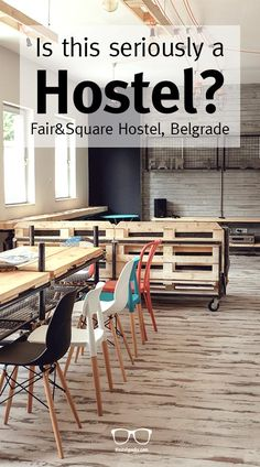 Yes, that's a Hostel! This is FairAndSquare Hostel in Belgrade, a 5 Star Hostel to kick back and enjoy!
