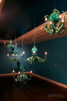 Blue Octopuses at Shiny Monsters by Adam Wallacavage