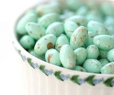 Mint czech glass beads