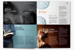 Medina & Carisbrooke College prospectus design 2 Print Layout, Layout Design, Print Design, Editorial Layout, Editorial Design, School Prospectus, Graphic Design Inspiration, Design Ideas, Publication Design