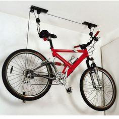 Ceiling mounting bike storage.