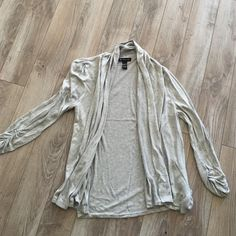 Drapey cardigan Nice open cardigan no buttons, ruched sleeves. Like new. Size large. INC International Concepts Jackets & Coats