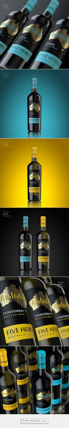 Five Heirs Wine - Packaging of the World - Creative Package Design Gallery - http://www.packagingoftheworld.com/2016/09/five-heirs.html