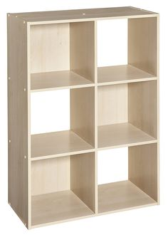 ClosetMaid 4176 Cubeicals Organizer, Birch - Products Lists of Tools and Hardware 6 Cube Organizer, Cube Storage, Toy Storage, Storage Spaces, Storage Ideas, Storage Organizers, Storage Room, Organization Ideas, Cubby Shelves