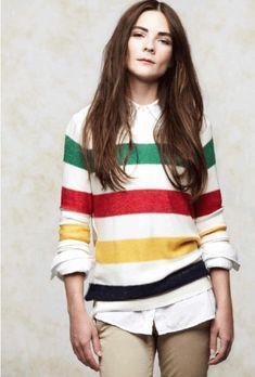 Hudson Bay Blanket - fashion            Hudson Bay Sweater. Canadiana