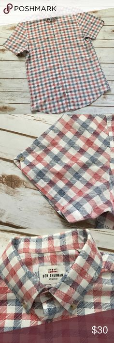 ✨NWOT Ben Sherman Plaid Button Down Shirt NWOT SZ S 100% cotton Ben Sherman Shirts Casual Button Down Shirts