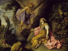 Pieter Lastman - De engel verschijnt aan Hagar in de woestijn