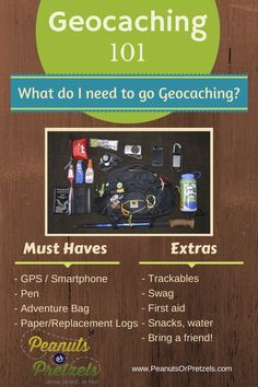 Geocaching 101: What do I need to go Geocaching? - I'd add bug spray and sunscreen. :P