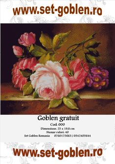 Goblen – diagrame gratuite – Trandafiri pe postament | Totul despre goblen - Set Goblen Romania Cross Stitching, Quilling, Needlepoint, Embroidery, Painting, Kite, Cross Stitch Embroidery, Ideas, Home