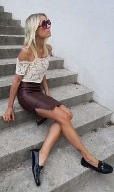 Leather And Lace Styling