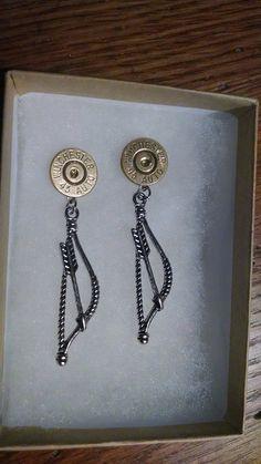 Archery Charm Bullet Earrings for the Bow by GunPowderWoman, $16.00