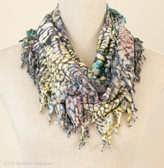 Soft Animal Print Short Knotted Cowl Scarf