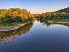 The Chemung River was aglow last night. #river #sunset #instagood #iphoneography