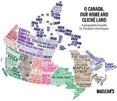 Interesting series of maps by @MacleansMag: Canada as you've never seen it (mapped) before