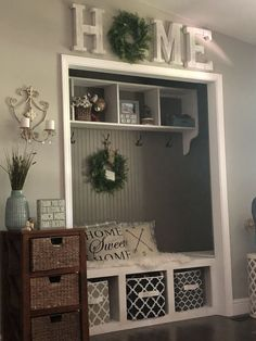 42 Awesome Small Living Room Decor Ideas On A Budget. Stylish 42 Awesome Small Living Room Decor Ideas On A Budget. An effective decoration of a room largely depends on its size and shape and mainly the purpose for which it […] Entry Closet, Front Closet, Hall Closet, Closet Mudroom, Closet Storage, Closet Paint, Foyer Storage, Entrance Hall, Bedroom Storage