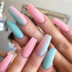60 Prettiest And Stylish Summer Nail Designs nail art designs, colorful nail art design summernails nailart manicure is part of nails - nails Summer Acrylic Nails, Best Acrylic Nails, Coffin Nails Designs Summer, Nail Summer, Summer Wear, Nail Ideas For Summer, Best Nails, Coffin Nail Designs, Holiday Acrylic Nails
