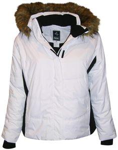 4bbb39ea2c Pulse Women s Plus Size Insulated Ski Jacket 1X 2X 3X 4X 5X 6X Aspens  Calling White
