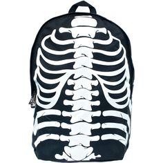 Skeleton Backpack ($24) ❤ liked on Polyvore featuring bags, backpacks, strap bag, knapsack bag, strap backpack, padded bag and skeleton bag