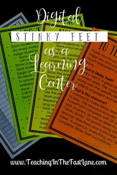 Using Digital Stinky Feet as a Partner Game or Learning Center Lessons For Kids, Math Lessons, Teaching Strategies, Teaching Resources, 5th Grade Math, Third Grade, Math Lesson Plans, Cooperative Learning, Math Stations