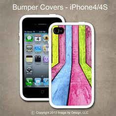 Colored Wood - I Phone 4, 4s Bumper Cover