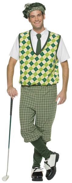 old time golfer adult costume golf costumes item trad329 4755 - Golfer Halloween Costume