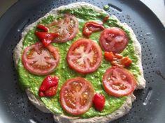 Easy Arugula Pesto Pizza Recipe (vegan)
