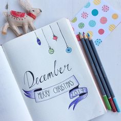 "13 Likes, 2 Comments - Hayley Smith (@hayleyfromhome) on Instagram: ""Fancy page in my bullet journal for the start of December, the very best kind of procrastination…"""