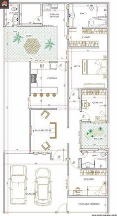 5 plantas de casas até 120m2
