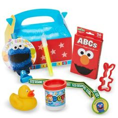 Sesame Street Elmo Party Party Favor Box - Official Party Supplies